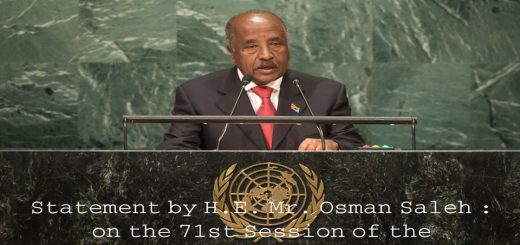 Statement by H.E. Mr. Osman Saleh : on the 71st Session of the United Nations General Assembly
